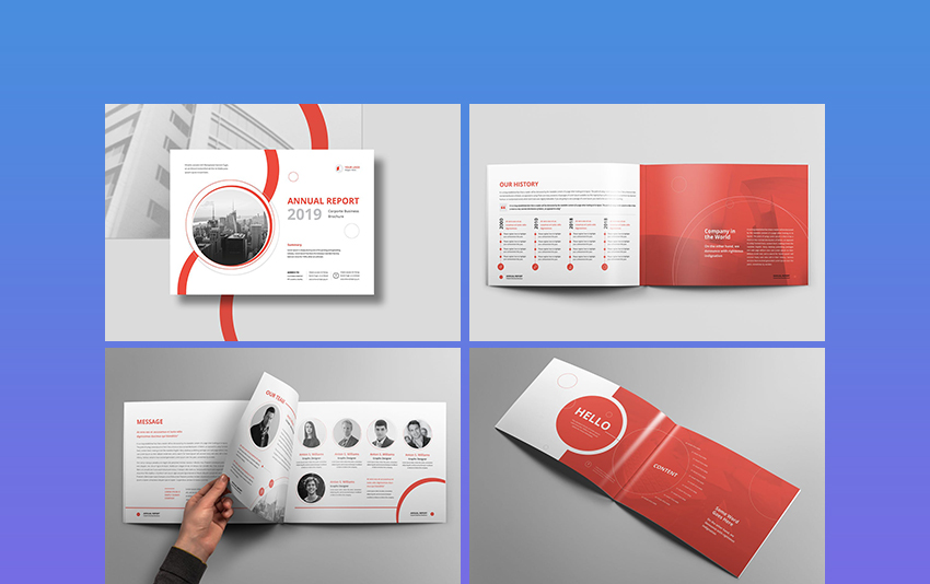 Landscape Report Template Design  Corporate Report