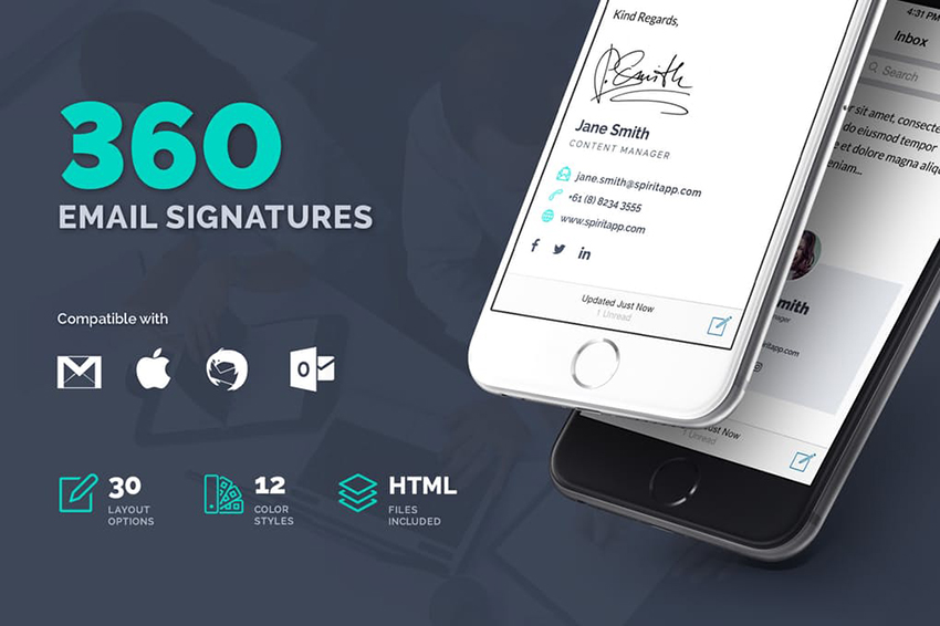 360 Email Signature Design Inspiration