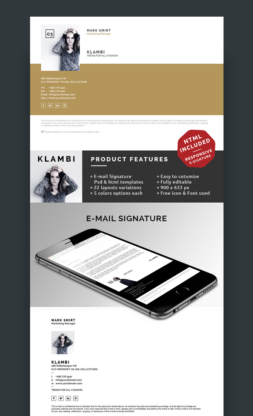 Klambi - Unique Email Signature Design Inspiration