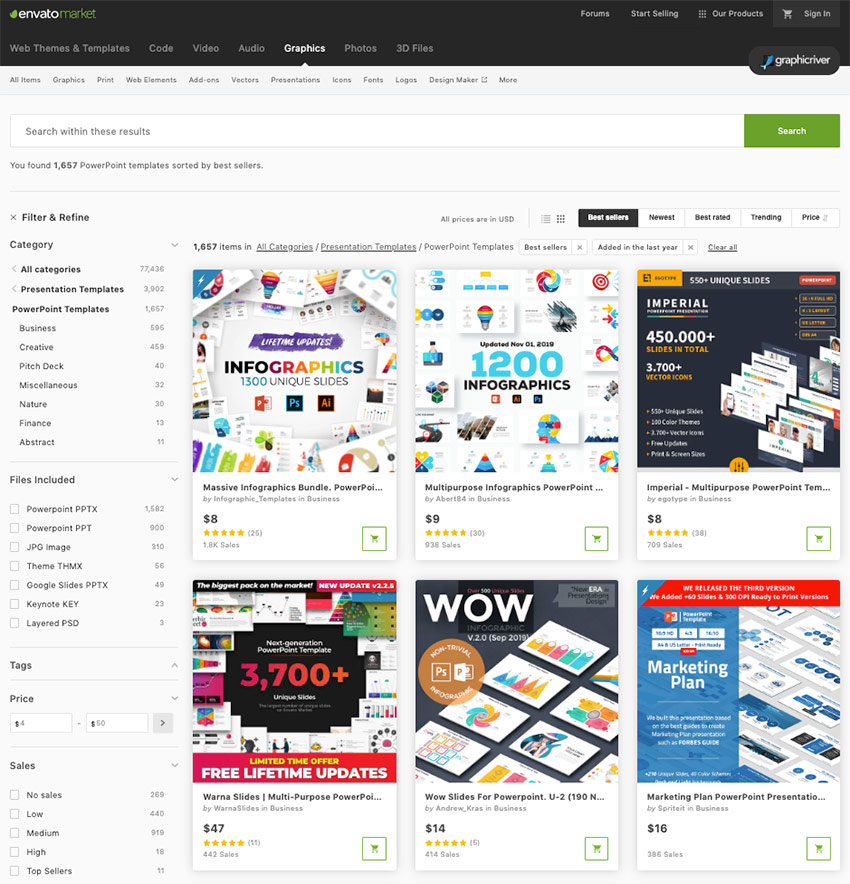 Latest PowerPoint Presentation Templates of 2020 from GraphicRiver