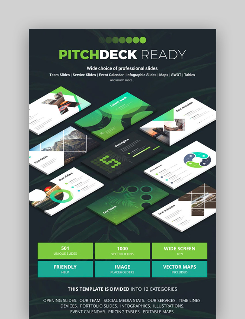 PitchDeck Ready - Google Slide Template