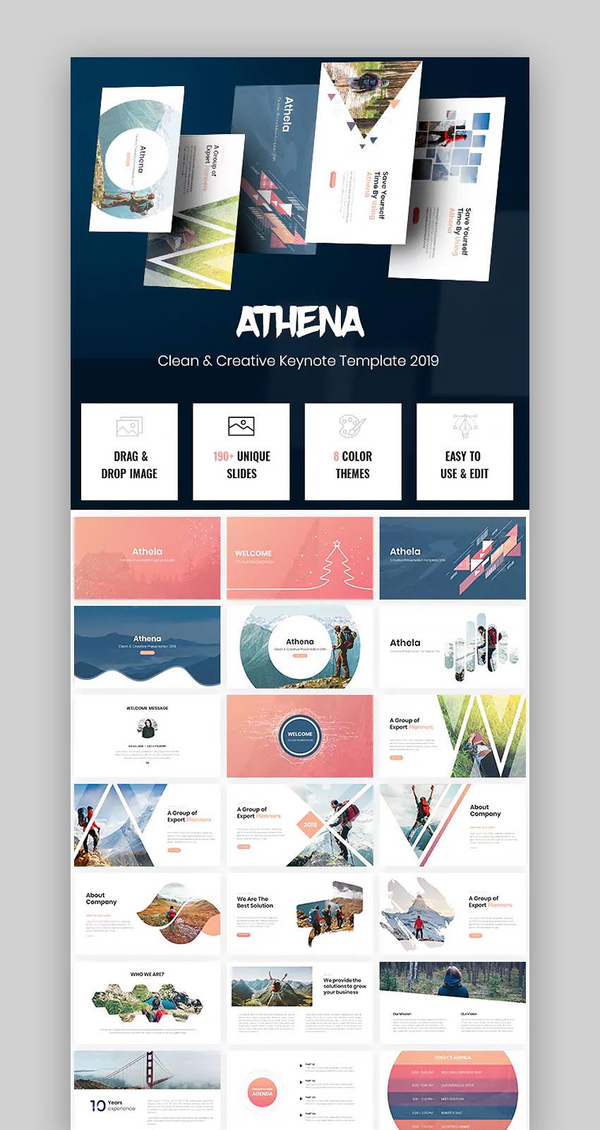 Athena - Beautiful Keynote Template