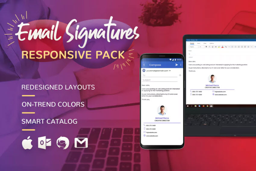 Email Signature Available on Envato Elements