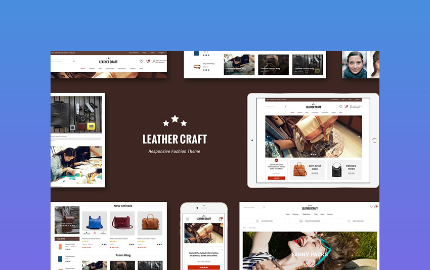 Leather fashion theme