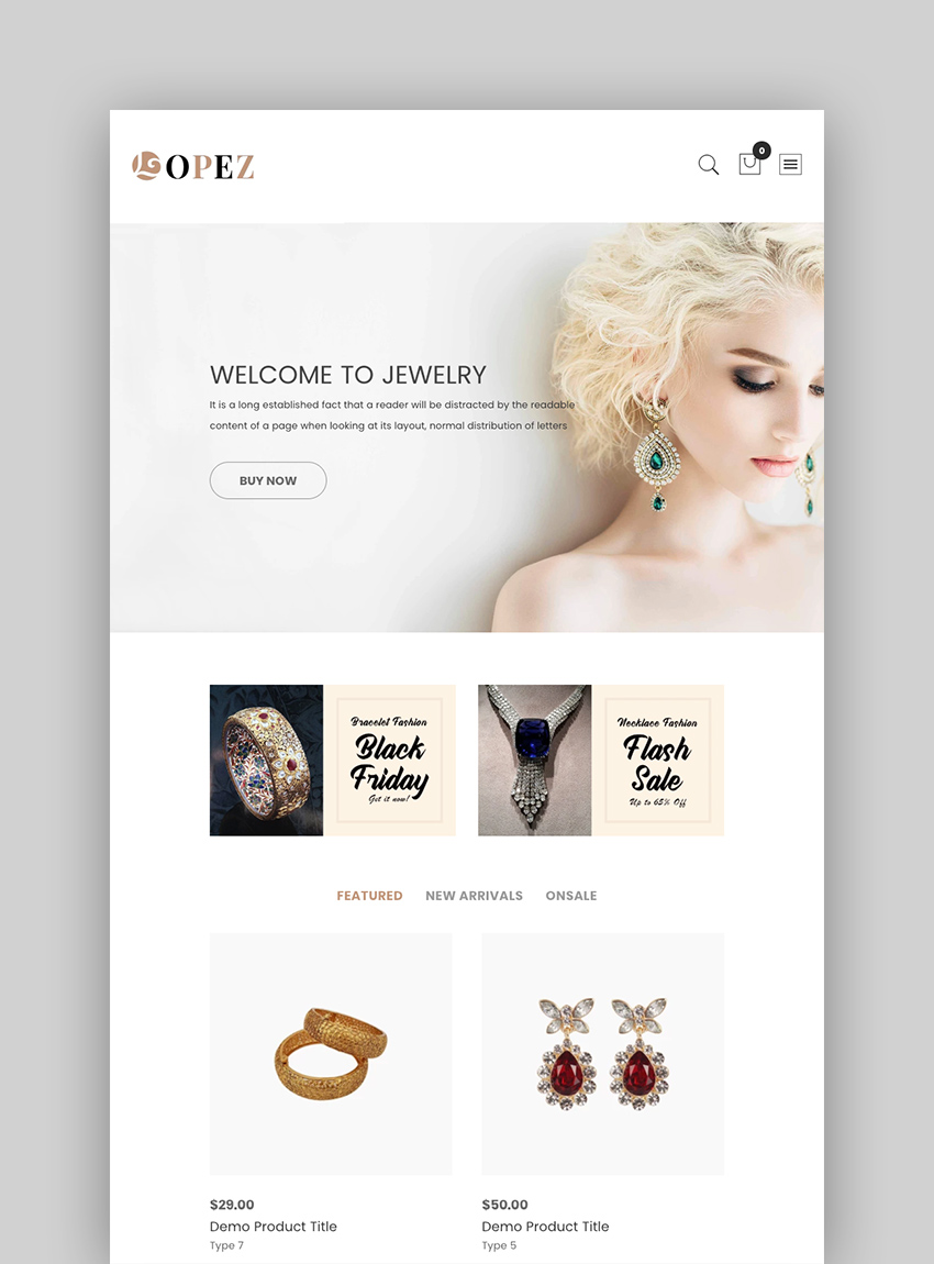 Lopez - Jewelry Shopify Themes