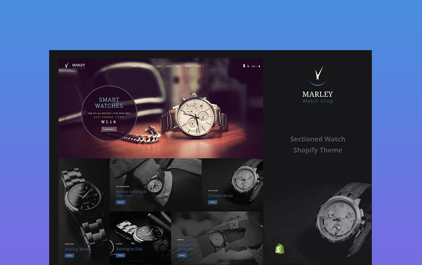 Watch Store - Responsive Shopify Theme