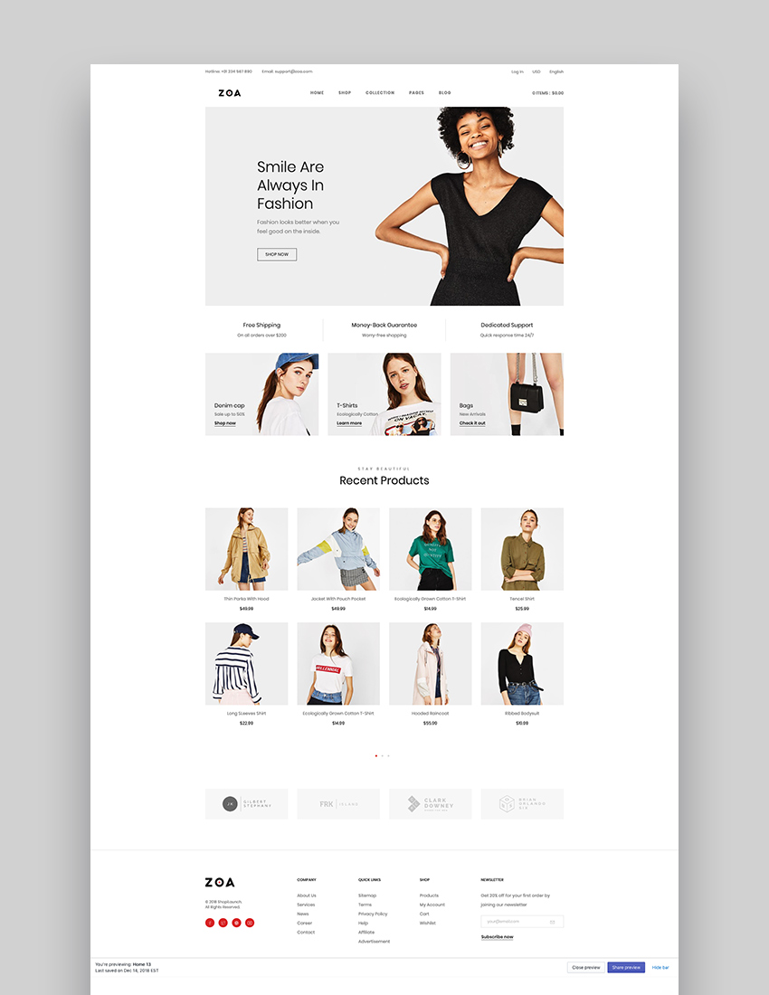 Zoa - Best Shopify Themes 2019
