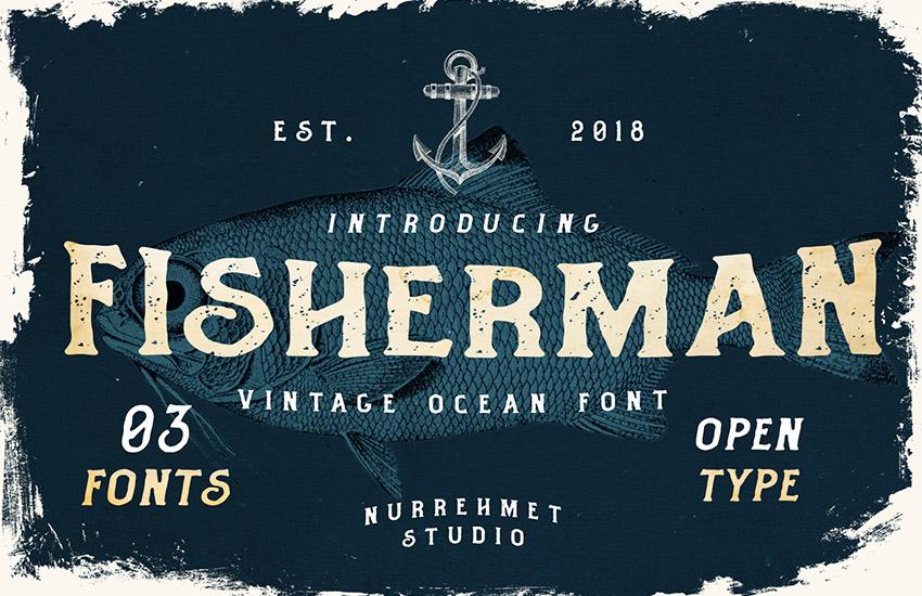 Fisherman - Retro Ocean Fonts