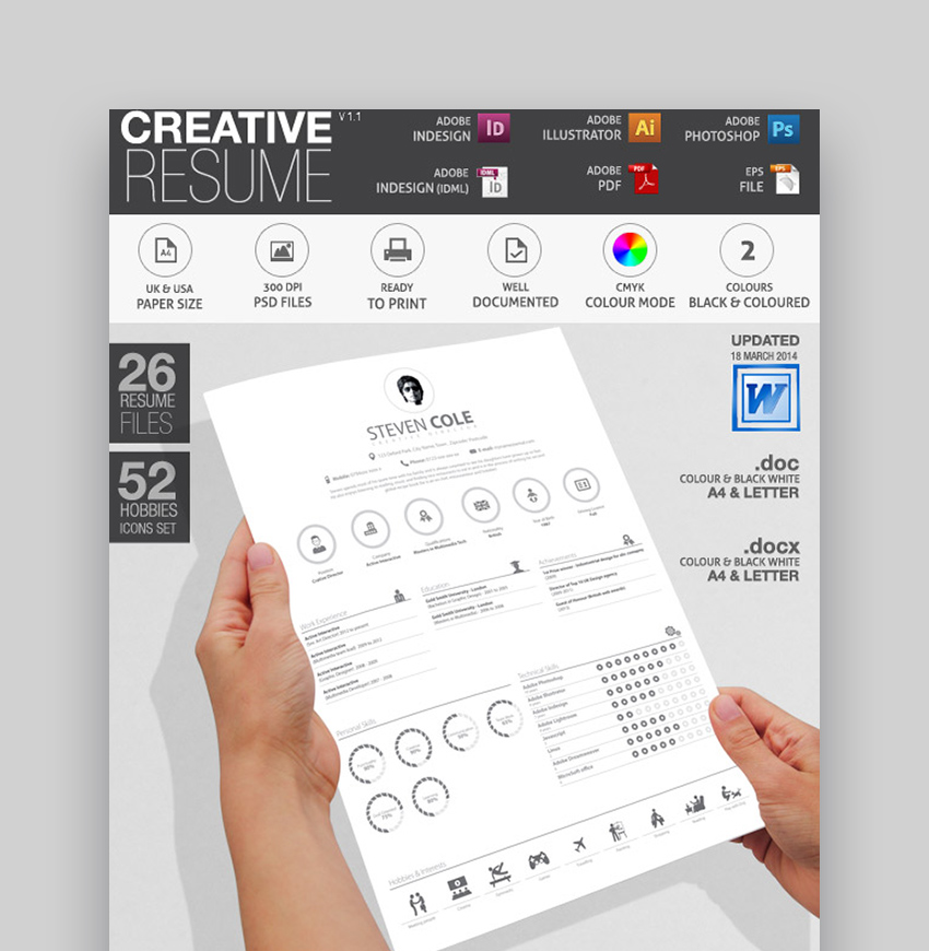 Icons Set - Simple Resume Template