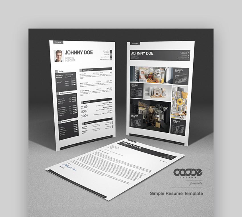 25 simple  cv  resume templates  easy to customize  u0026 edit
