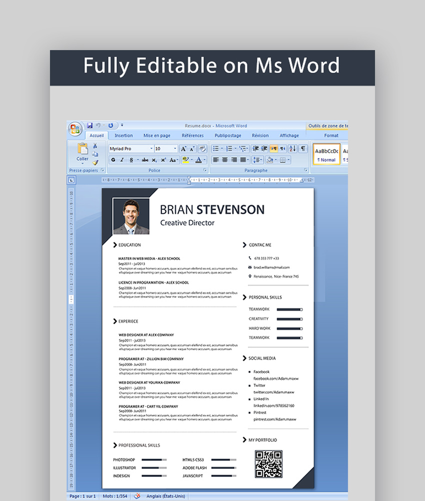 Simple and Clean Resume  Cover Templates