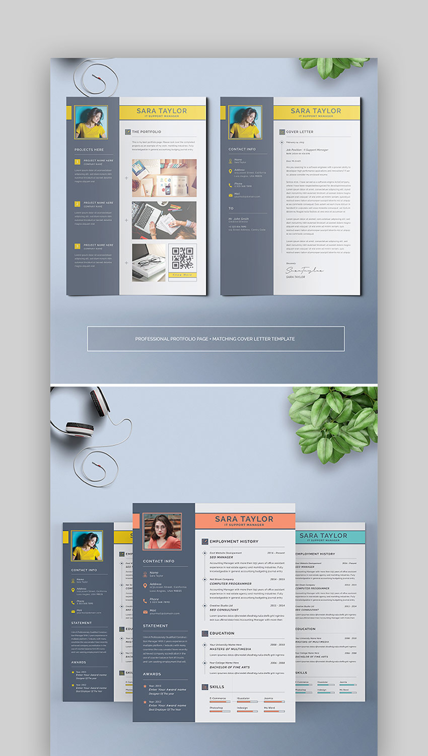 Colorful Modern Resume Template