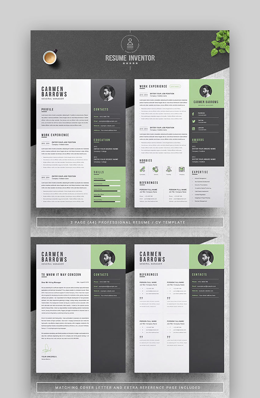 Professional - Cool Resume Template