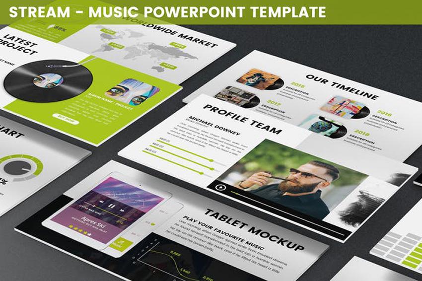 Stream - Music PowerPoint Template