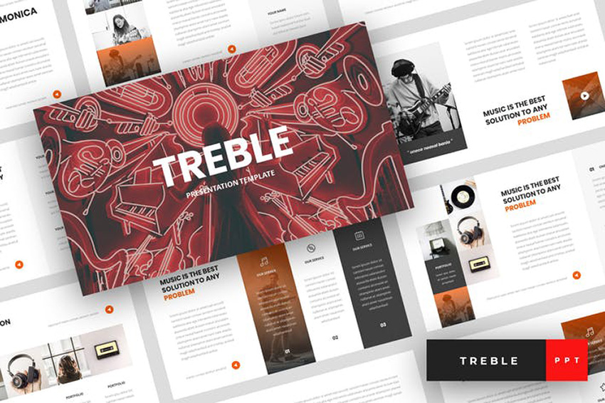 Treble - Music PowerPoint Template