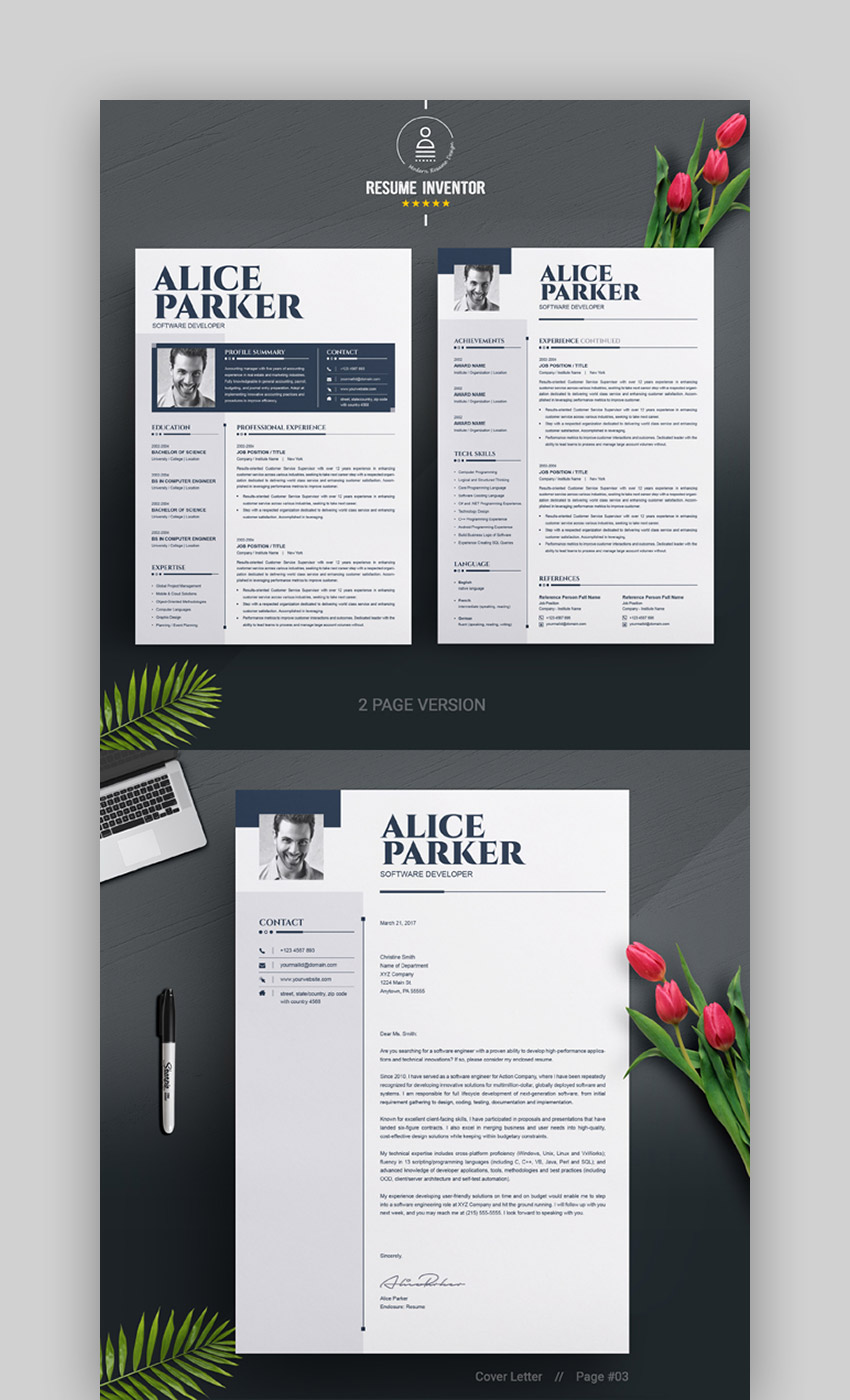 Contemporary CV Template for Microsoft Word