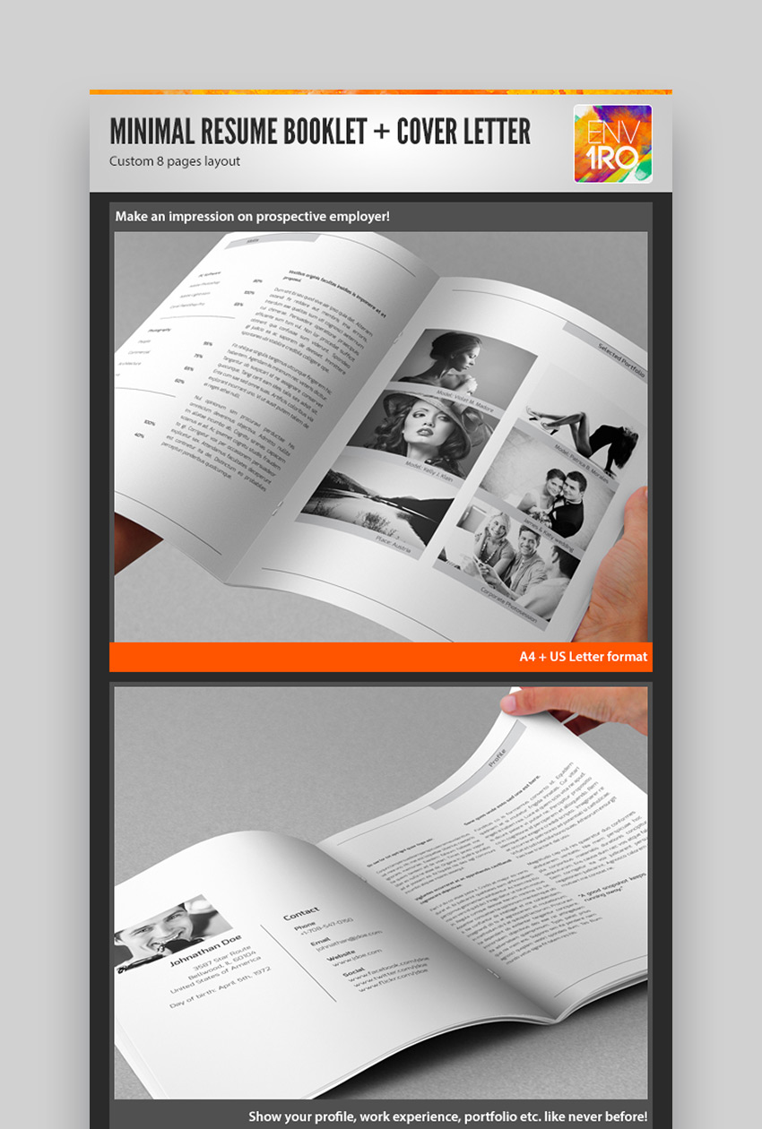 Minimal Resume Booklet  Cover Letter