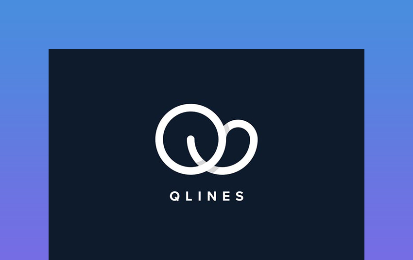 Q Line Logo Template example of simple yet creative logo template on Envato Elements