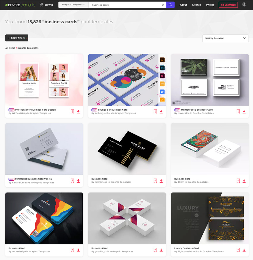 Envato Elements - Business Card Items