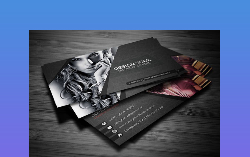 Models in Black - Photography Business Cards