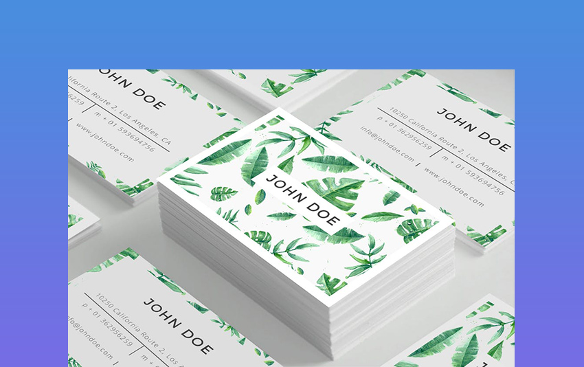Modern Minimalist Business Card Template