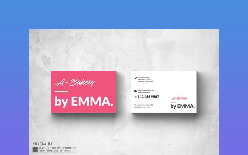 Modern Text Business Card Template
