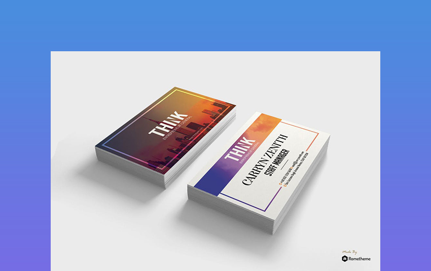 Colorful - Creative Card Idea Template