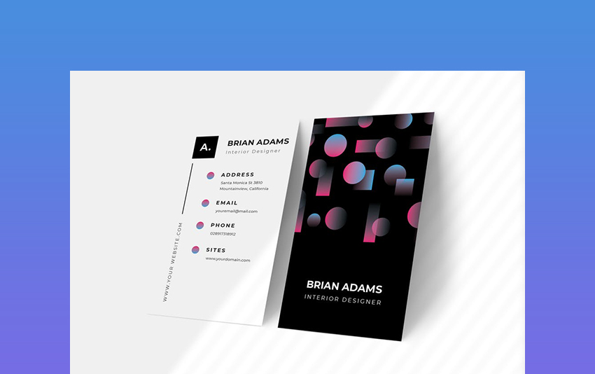 Geometric - Black Creative Agency Business Card
