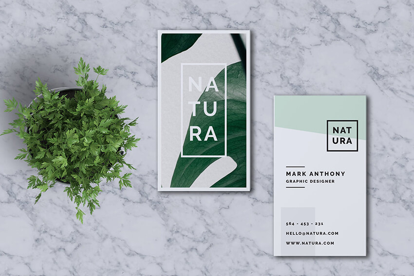 Natura Cool Business Card Design