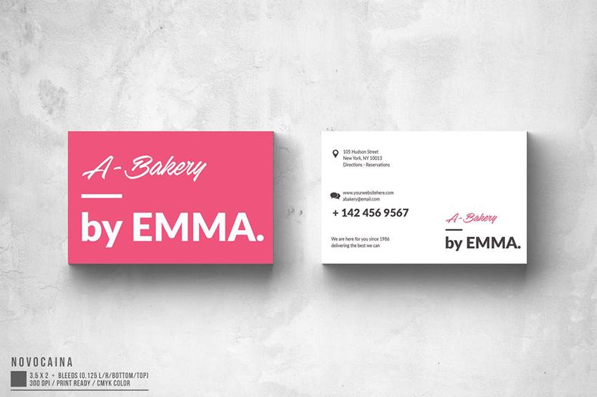 Bakery - Minimalist Business Card Template