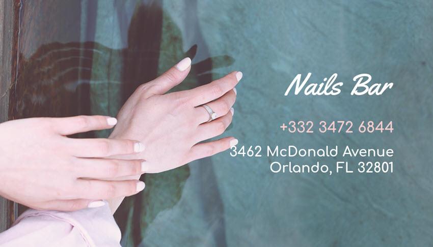 Beautician Business Card Template