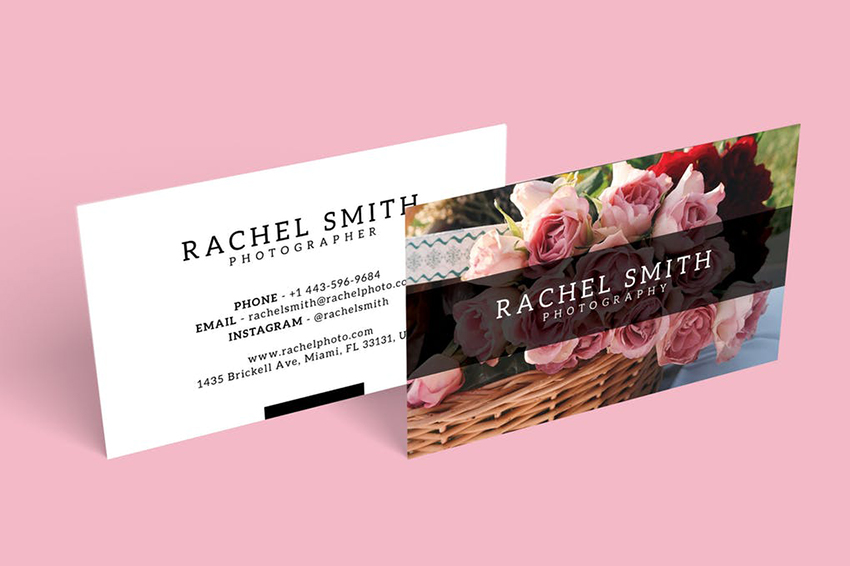 Rectangle Business Card with Landscape Orientation