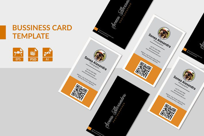 Portrait and Landscape Business Card Orientation