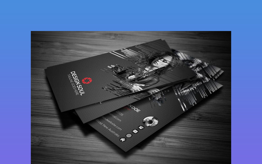 Portrait Photography Business Card Template
