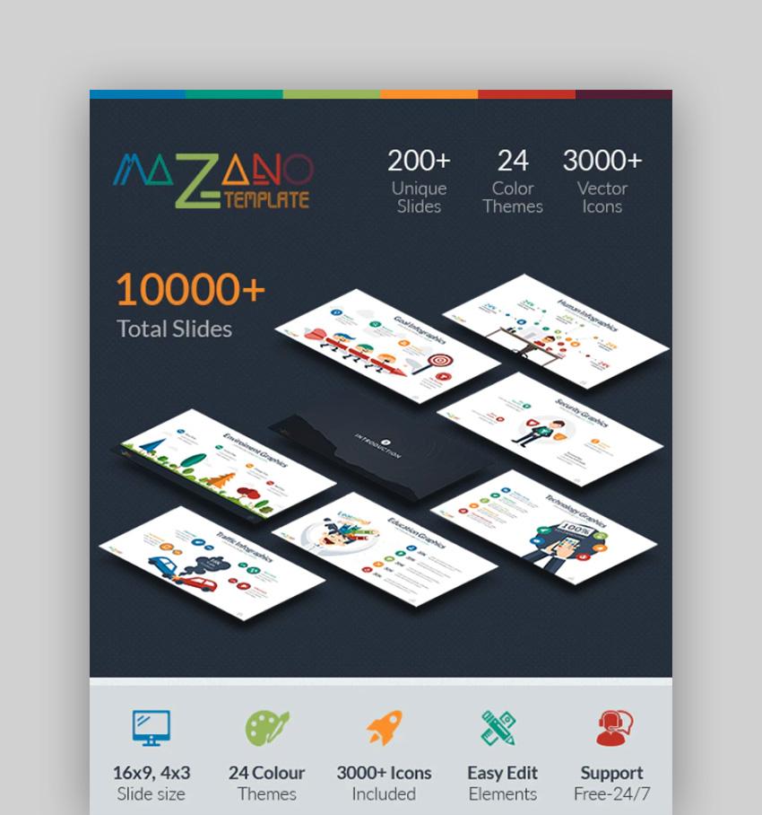 Mazano - Google Infographic Templates