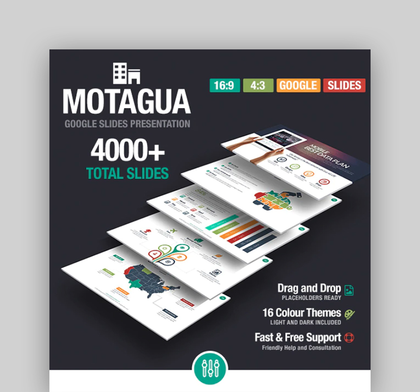 Montague - Infographic Template Google Docs