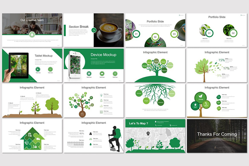 Integrate The Nature Graphics Into Your Presentation