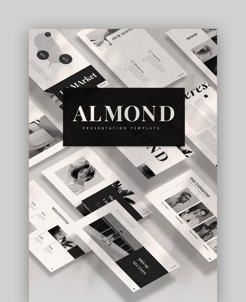 Almond - Newspaper Template PowerPoint