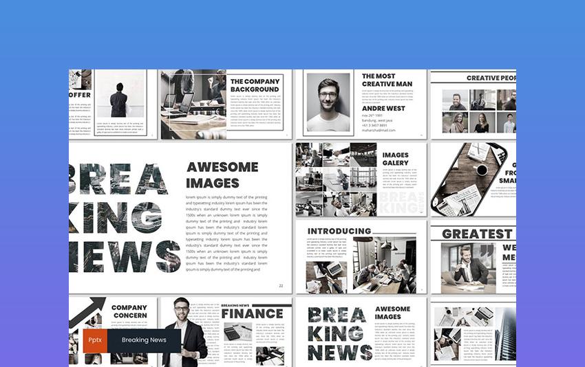 Breaking News - Newspaper Template PowerPoint