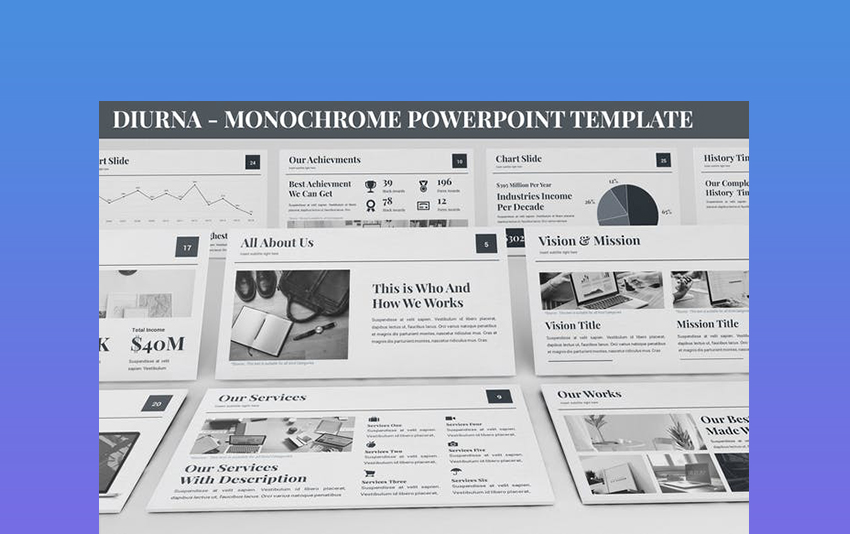 Diurna - Newspaper Template PowerPoint
