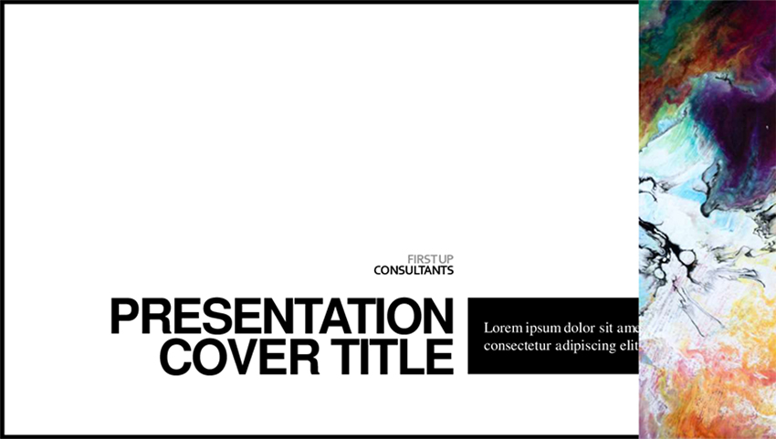 Minimalist Color - Free Newspaper Layout PowerPoint