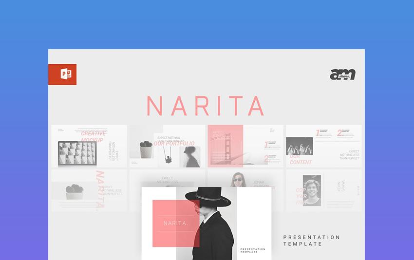 Narita - Magazine News PowerPoint Template