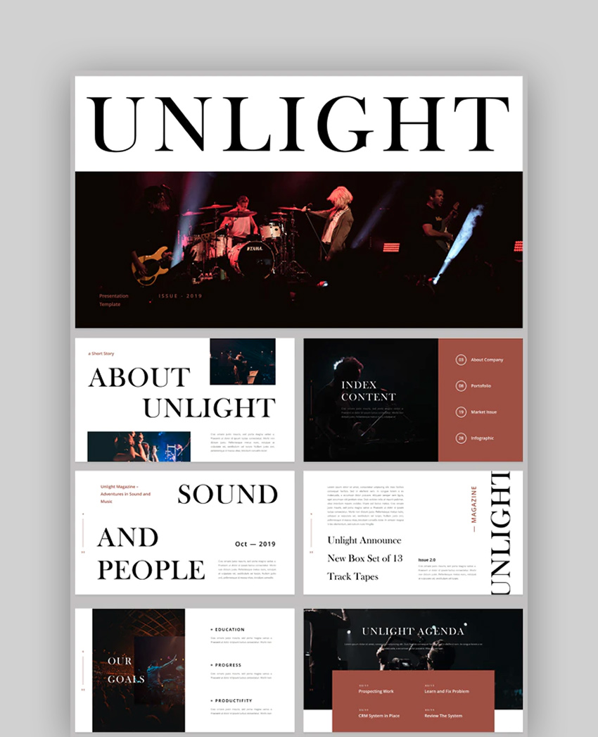 Unlight - News Magazine  Newspaper Presentation PowerPoint