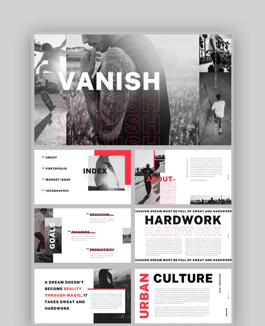 Vanish - Magazine Newspaper Presentation PowerPoint