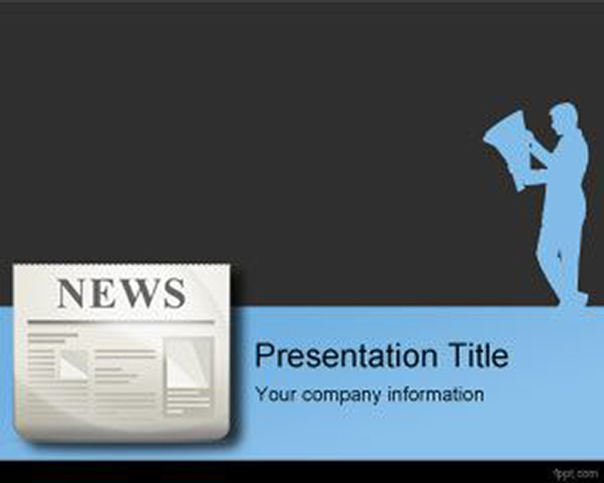 Free Press Release PowerPoint Template