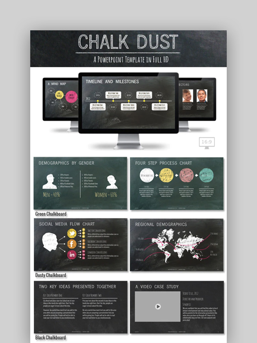 Chalk Dust PowerPoint Presentation Template