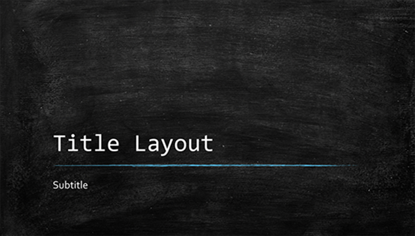 Education Chalkboard Template PowerPoint Free
