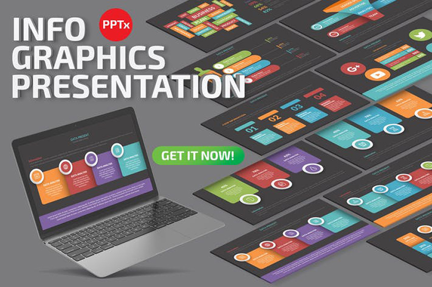 Infographics - Chalkboard Theme PowerPoint a premium template from Envato Elements