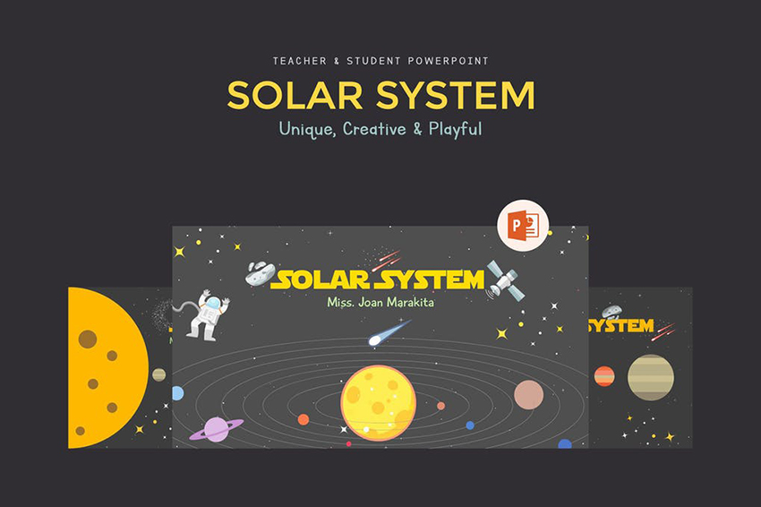 Solar System Education Presentation on Envato Elements