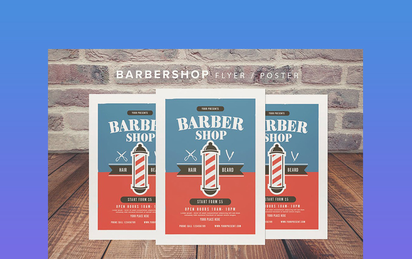 Barbershop Flyer PSD Template